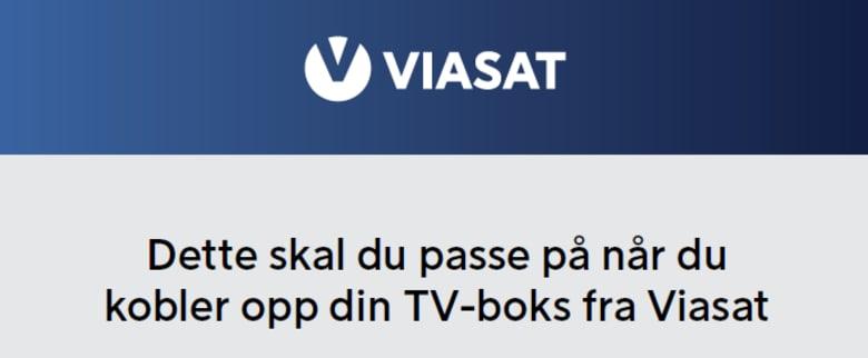 Oppkobling Viasat/Allente TV-boks