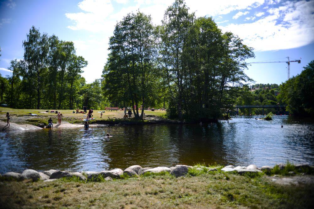 Bilde av badeplass i nærheten av Frysjaparken.