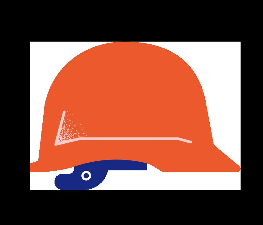 Illustrasjon av en hjelm
