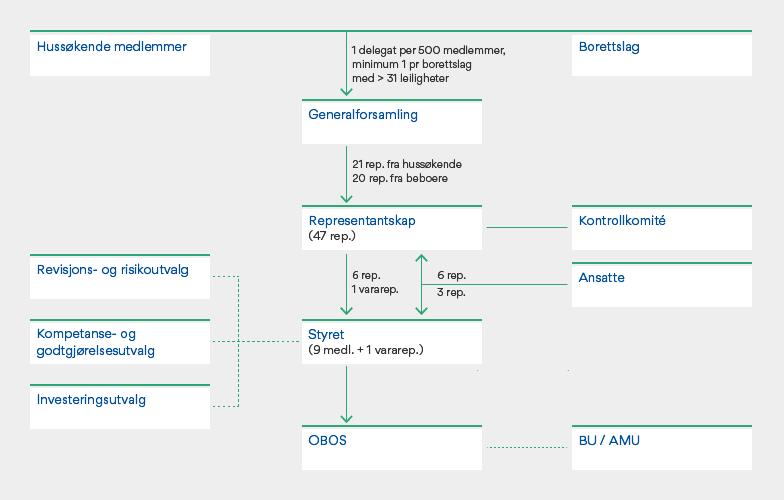 Oversikt over styrende organer per 31.12.20