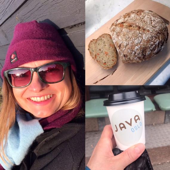 Bilde av Vivi brød og kaffekopp