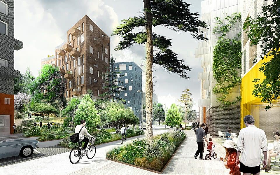 en illustration från projekt Kolkajen i Stockholm