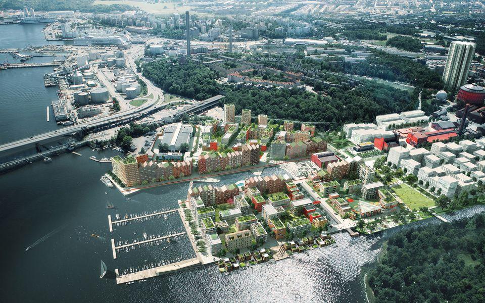 En illustration över projekt Kolkajen i Stockholm