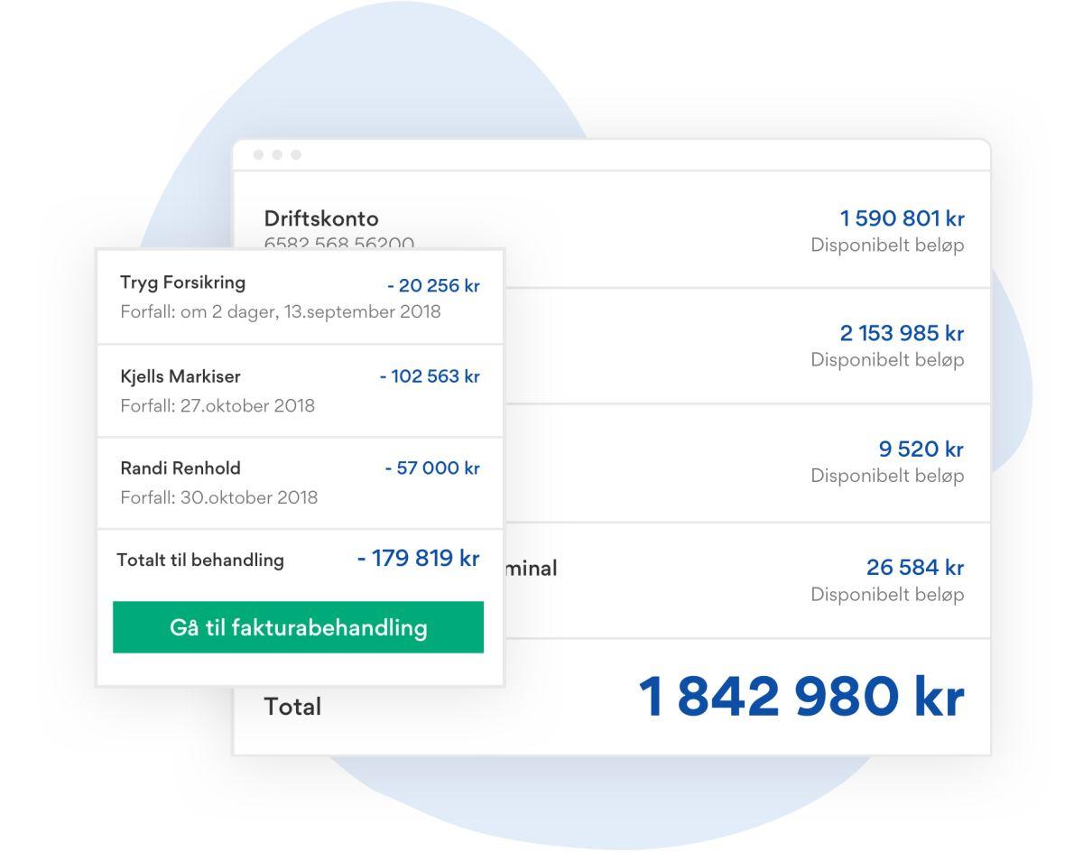 Illustrasjon som viser hvordan kostnader og bankbeholdning ser ut på styrerommet