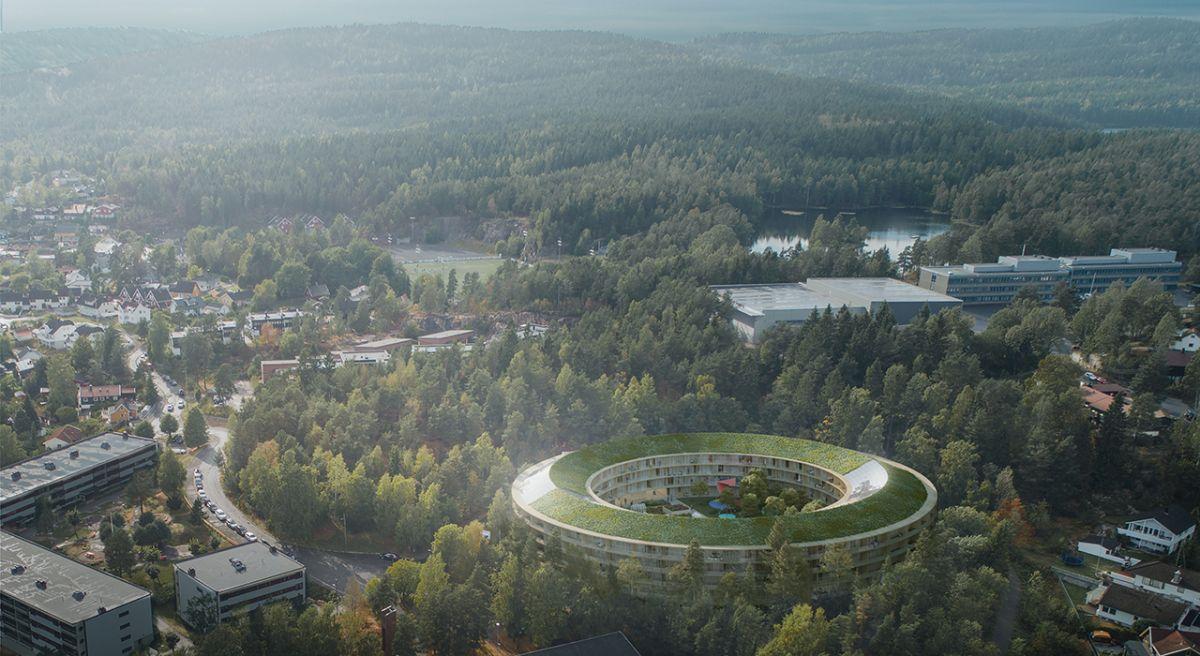 Oversiktsbilde over byggeprosjektet Oen i Oslo