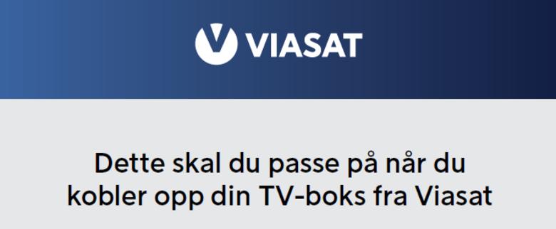 Oppkobling Viasat TV-boks