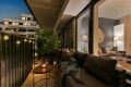 Utgang fra stue til vestvendt balkong med gulvflate på ca.8m²