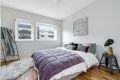 Romslig soverom, god plass til stor seng med tilhørende møblement.