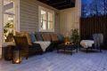 Terrasse med plass til utemøbler.