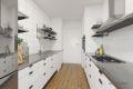 Illustrasjon på hvordan kjøkkenet kan pusses opp.