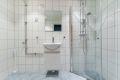 Rehabilitert bad i regi av brl., Ferdigstilt i 2016. PVC sluk, klemring, membran. En god start på dagen begynner på et varmt og delikat baderom.