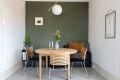 Naturlig del av stuen er perfekt for spisebord.