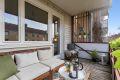 Fin plass til balkongmøbler.
