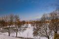 Utsikt fra balkong vinter