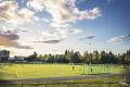Lambertseter idrettspark. I nærheten finner du også svømmehall og Lambertseter gård.