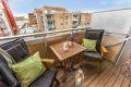 vestvendt balkong med gode solforhold, også kveldssol!