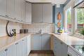 Kjøkken med opplegg for oppvaskmaskin.