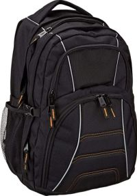 Front facing view of the Amazon Basics Laptop Computer Backpack