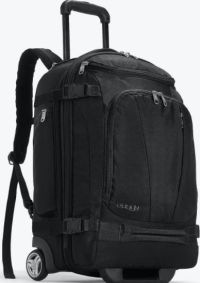 Front facing view of the ebags Mother Lode Rolling Travel Backpack