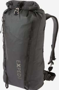Front facing view of the Exped Black Ice 30