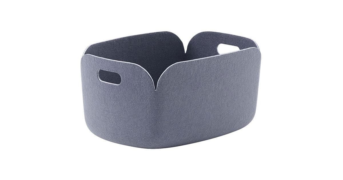 Panier de rangement Restore bleu gris