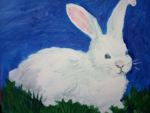 Virtual Drawing Lesson for KIDS:  Bunny Rabbit  (Follow Along from Home)