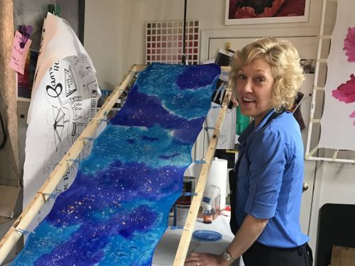 Online-Advanced Silk Painting @ Art Yourself Studio