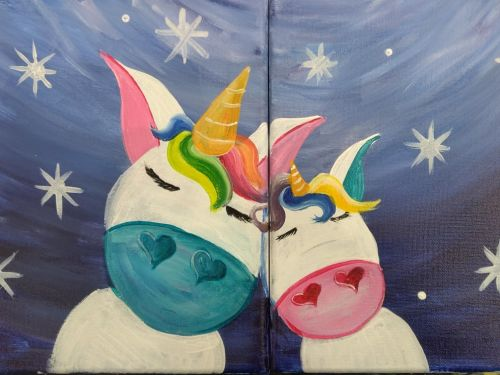 Now ONLINE! Mom And Me Unicorn Paint Class