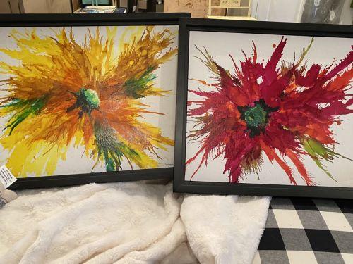 Online class-Flowering Beauties in Alcohol Ink @ Art Yourself Studio