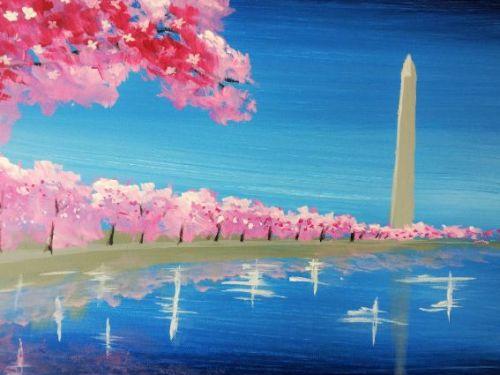 Virtual ArtJamz®: Tidal Basin Cherry Blossoms