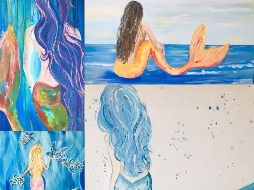 At-Home Kit  Choose a  Mermaid Painting!