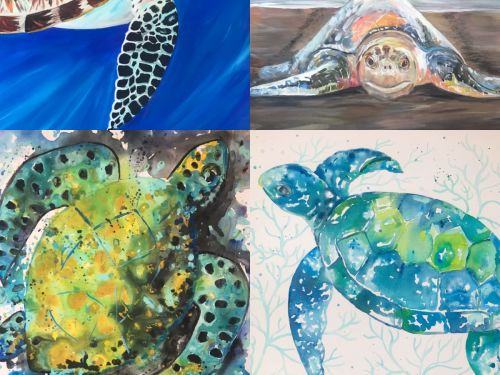 At-Home Kit  Choose a Sea Turtle Painting!