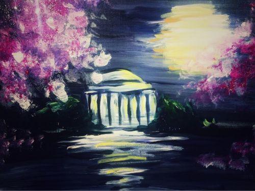 Virtual ArtJamz®: Moonlit Cherry Blossoms