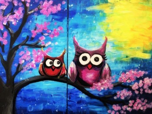TEENZ Virtual ArtJamz®: Owls With Mom