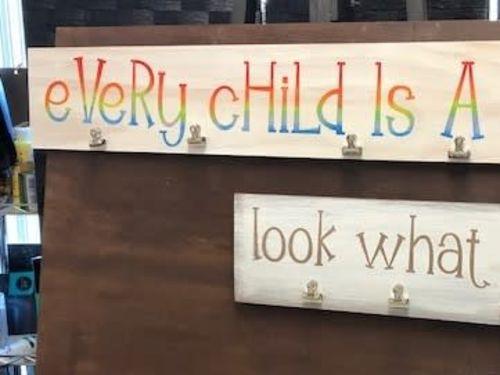 At-Home Kit - Kids Art Sign