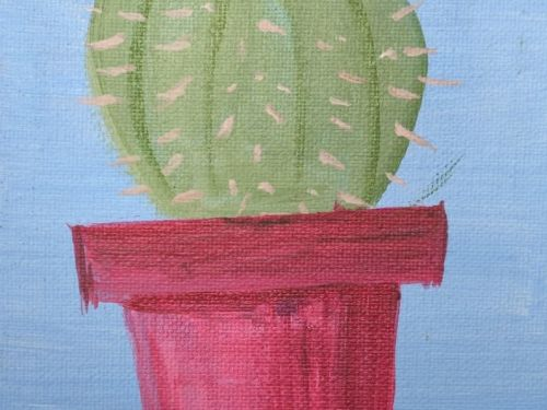 At-Home Paint Kit: Potted Cactus