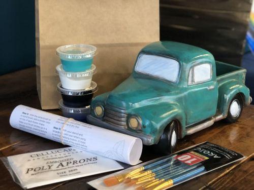At-Home Kit Vintage Ceramic Truck