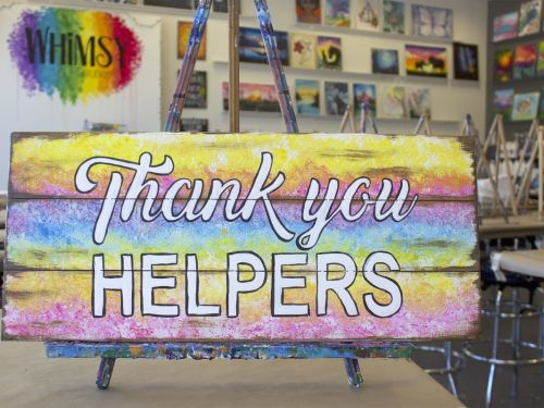 Whimsy to Gogh Thank You Helpers Sign