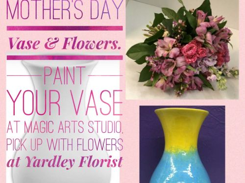 Mother's Day Vase with Flowers!
