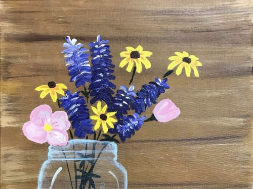 Texas Wildflowers Paint @ Home Experience