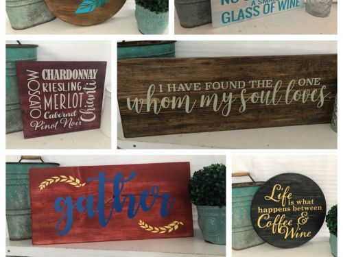 Wood Sign Making @ Home Experience