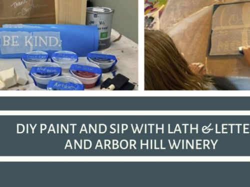 At Home DIY Paint and Sip with Arbor Hill