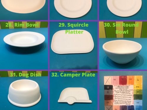 Pottery-to-go Plates/ Platters/ Bowls