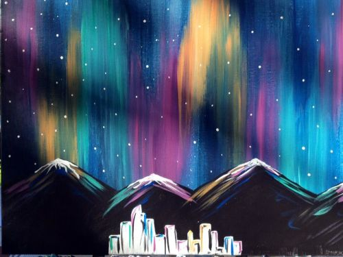 Online Class - Northern Lights with MANDY
