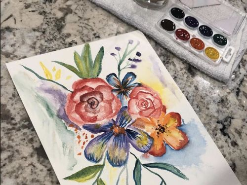 At-Home Floral Watercolor Kit