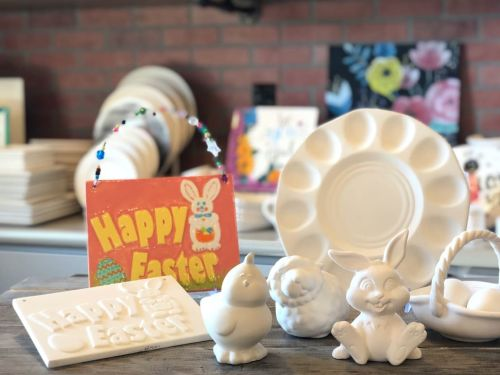 """Easter Art """"To Go"""" Pottery Social Distancing Style"""
