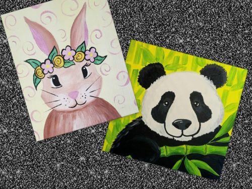 Vintage Bunny or Panda Pal ~ Art-to-GOGH Take Home Kit