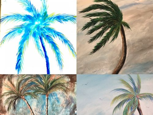 At-Home Kit  Choose a Palm Tree Painting!