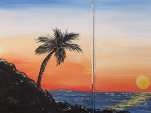 Online Painting Class: Tropical Sunset