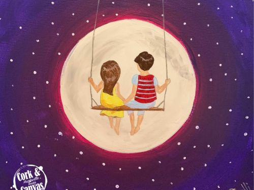 Love You To The Moon Paint @ Home Experience